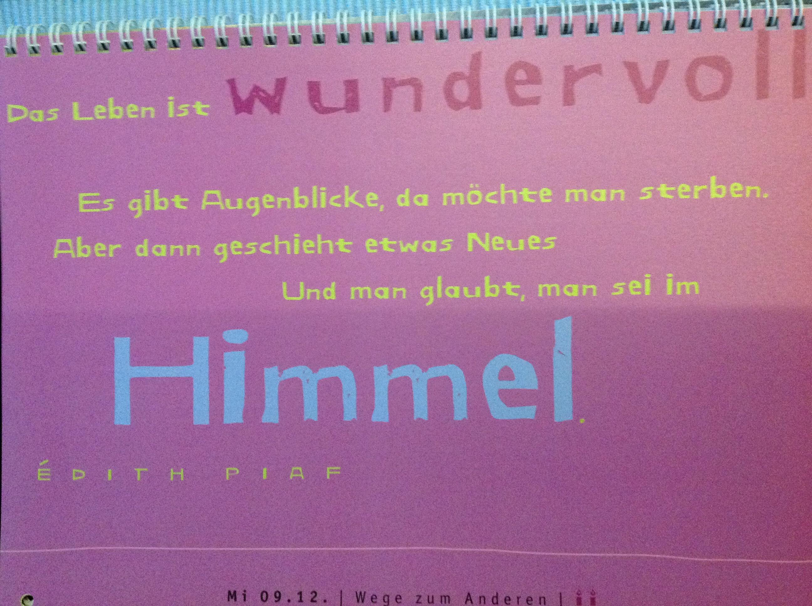 Kalenderblatt Sprüche Pinkfarbenes Leben